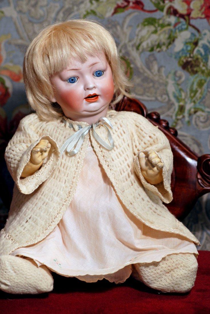 GERMAN BISQUE CHARACTER BABY BY HERTEL & SCHWAB.