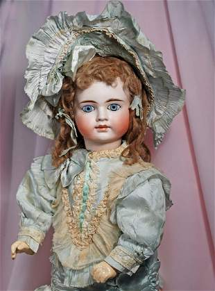 """. RARE, SONNEBERG BISQUE DOLL WITH """"BRU LOOK"""" FOR THE"""
