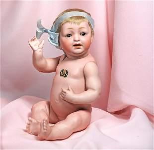 . GERMAN ALL-BISQUE BABY BY KESTNER. Marks: JDK 211.