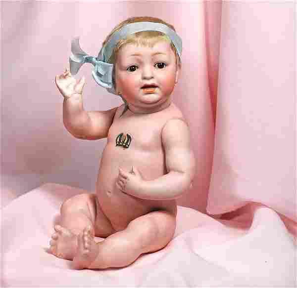12. GERMAN ALL-BISQUE BABY BY KESTNER. Marks: JDK 211.