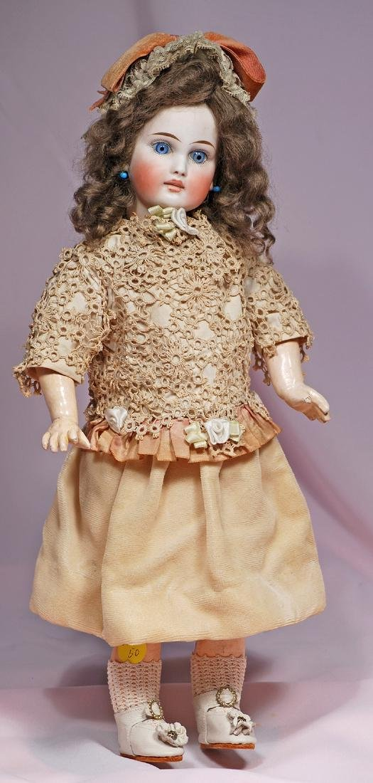 32. BISQUE BELTON DOLL WITH FRENCH-LOOK. Marks: 137.