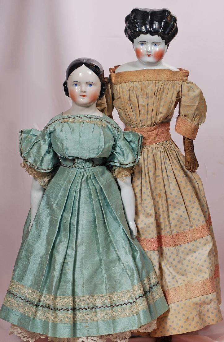 41. GERMAN PORCELAIN DOLL IN ORIGINAL DRESS. Marks: 5.