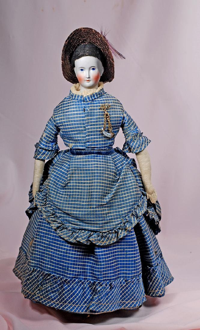 55. FINE GERMAN BISQUE FASHION LADY ATTRIBUTED TO