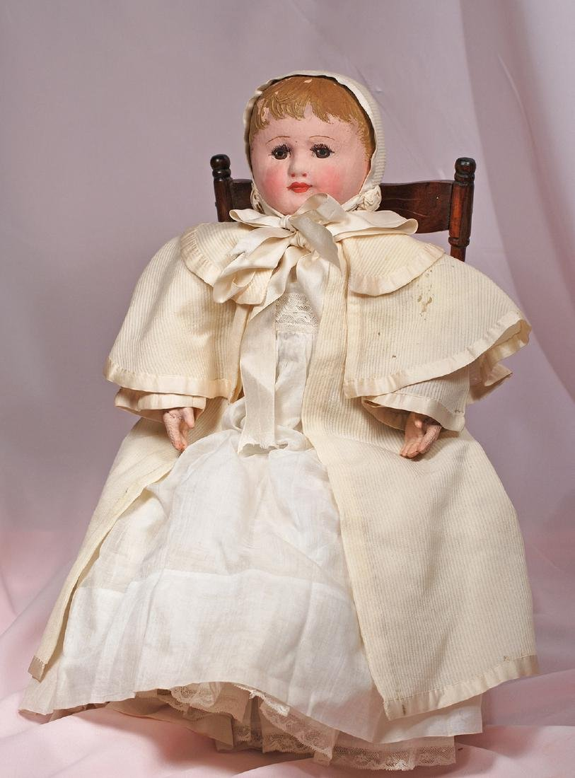 60. AMERICAN CLOTH DOLL BY MARTHA CHASE. Marks: Chase