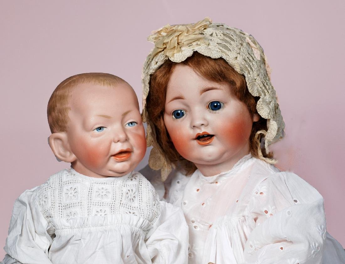 74. GERMAN BISQUE CHARACTER BABY BY KONIG & WERNICKE.