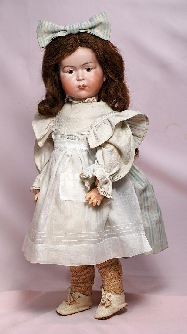 82. GERMAN BISQUE CHARACTER DOLL BY MYSTERY MAKER.