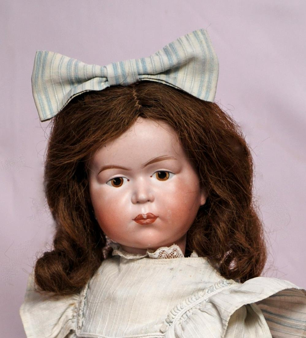 82. GERMAN BISQUE CHARACTER DOLL BY MYSTERY MAKER. - 2