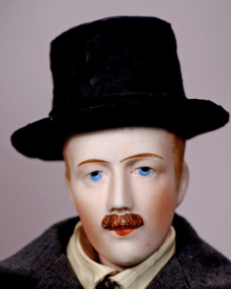 86. FRENCH BISQUE GENTLEMAN WITH MUSTACHE BY MYSTERY - 2
