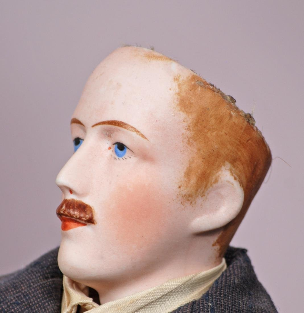 86. FRENCH BISQUE GENTLEMAN WITH MUSTACHE BY MYSTERY - 3