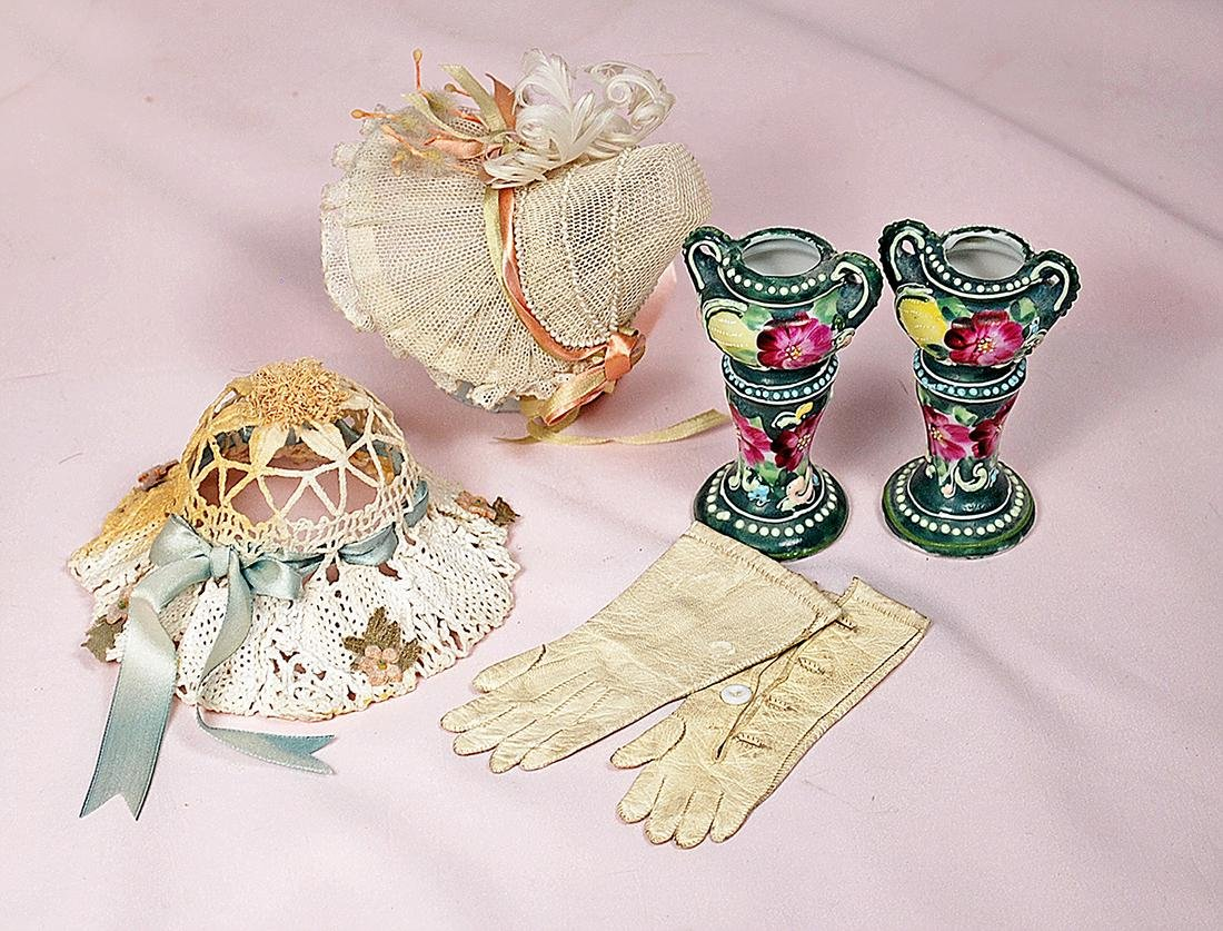 93. MINIATURE DOLL ACCESSORY ITEMS. Includes: Pair of 2