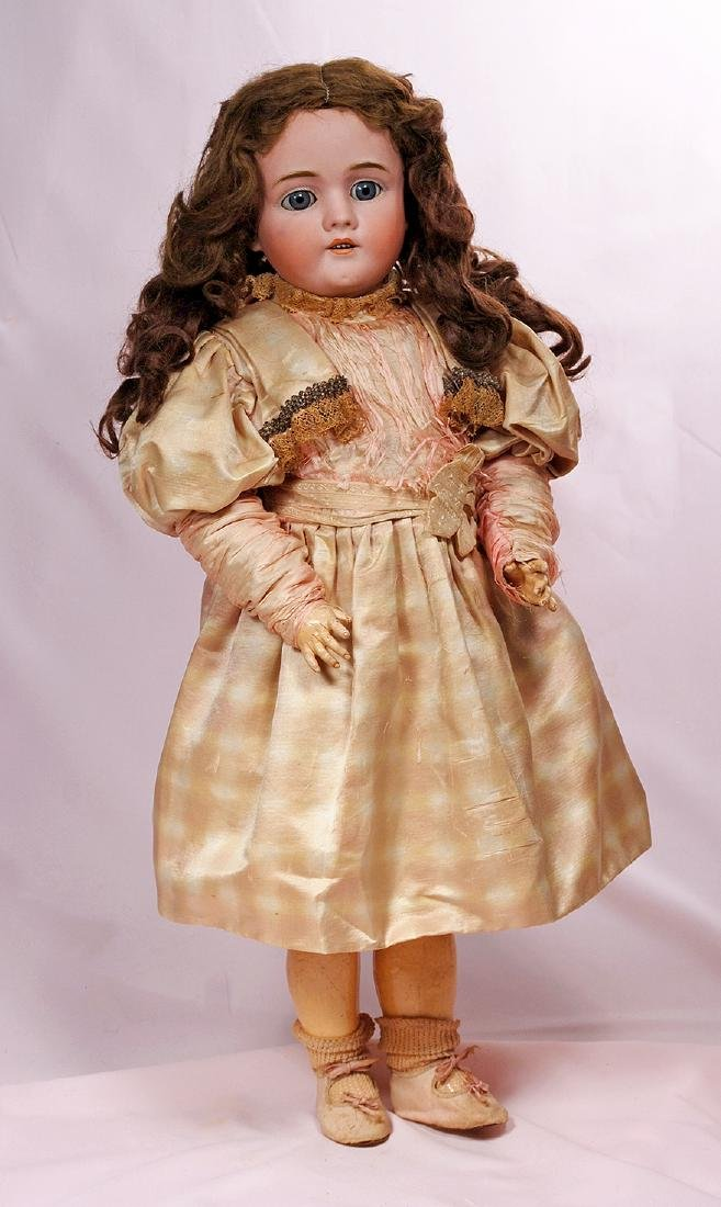 118. GERMAN BISQUE CHILD DOLL BY KLEY AND HAHN. Marks: