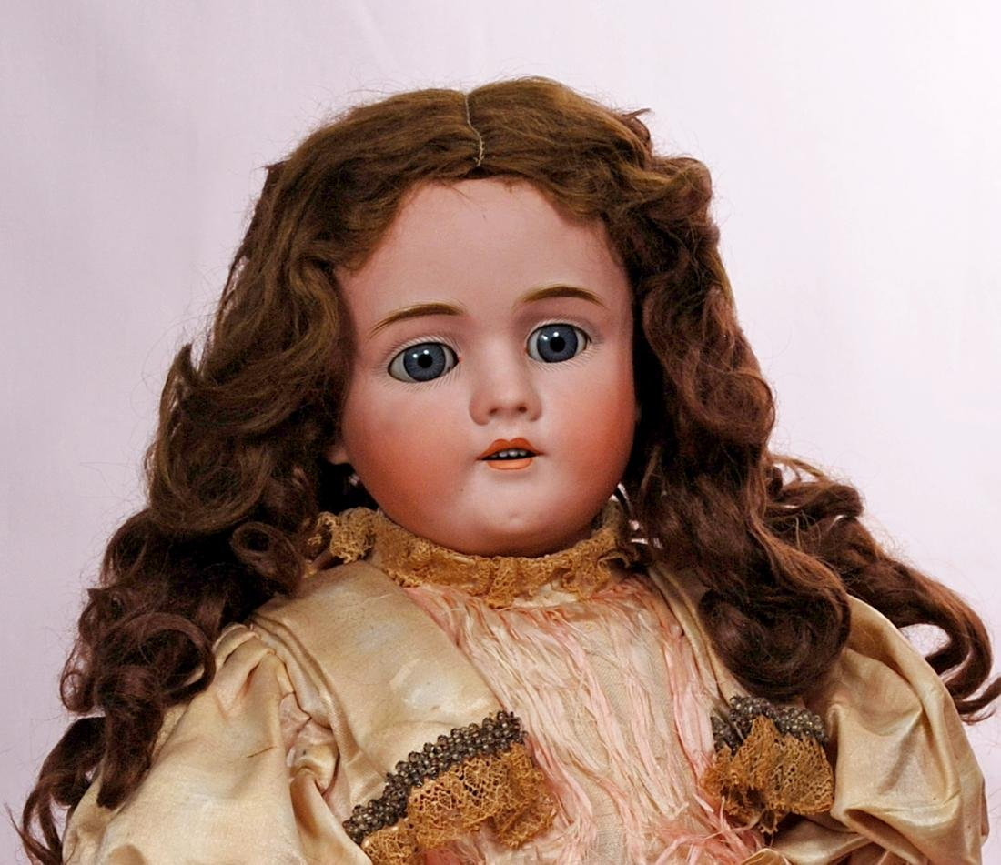 118. GERMAN BISQUE CHILD DOLL BY KLEY AND HAHN. Marks: - 2