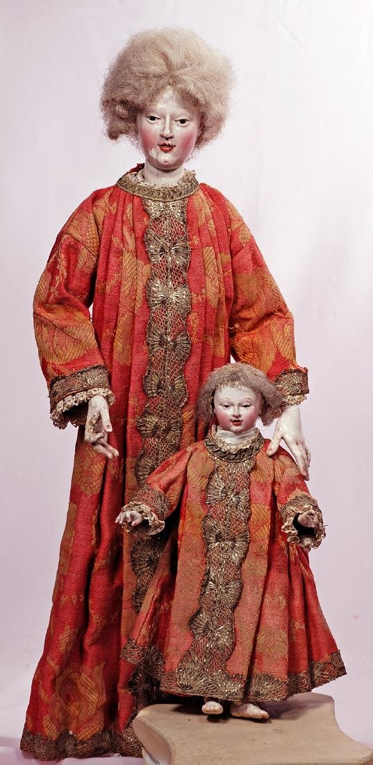 164. VERY RARE EARLY WOODEN CONTINENTAL FIGURES, SAID