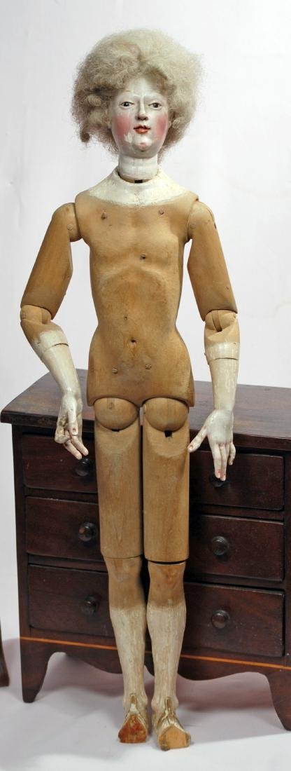 164. VERY RARE EARLY WOODEN CONTINENTAL FIGURES, SAID - 3