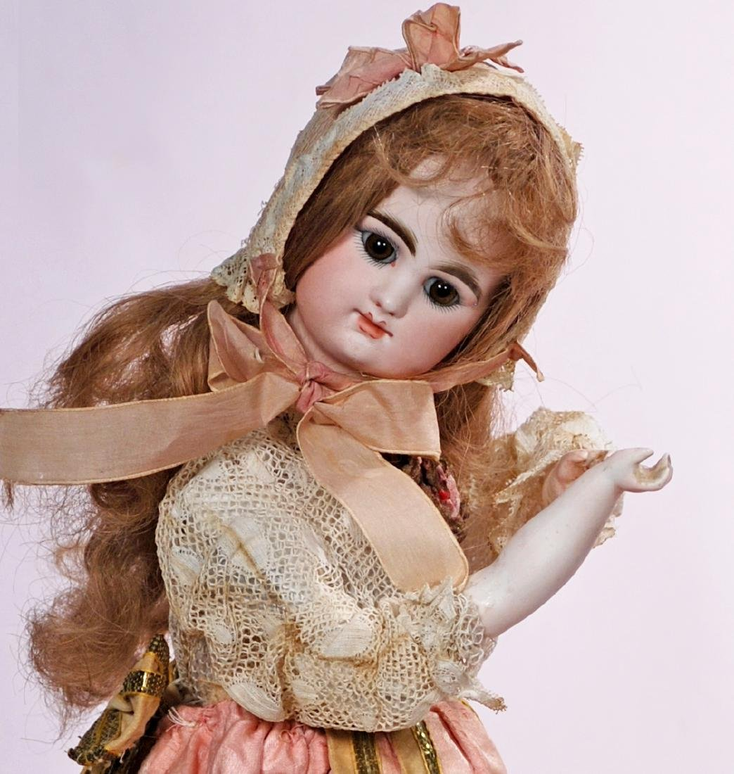 196. FRENCH BISQUE AUTOMATON BY LAMBERT. Marks: LB. key; - 2