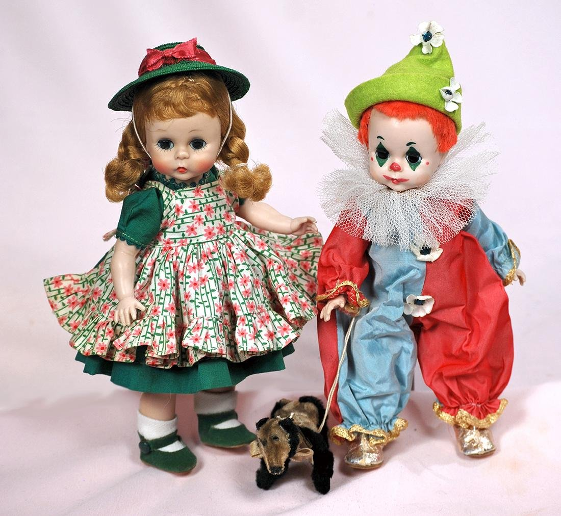 "217. ALEXANDER 1955 ""BABY CLOWN"" & ""WENDY IN SCHOOL"