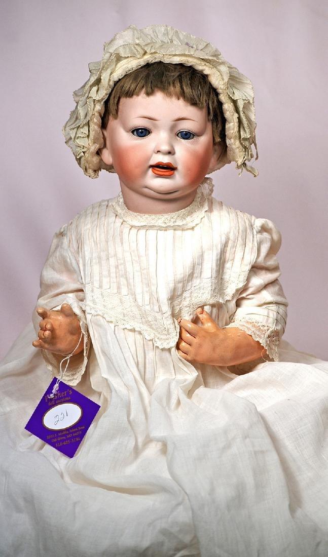 221. GERMAN BISQUE CHARACTER BABY BY HERTEL & SCHWAB.