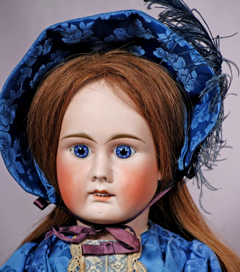 227. GERMAN BISQUE DOLL BY MYSTERY MAKER. Marks: 15. - 2