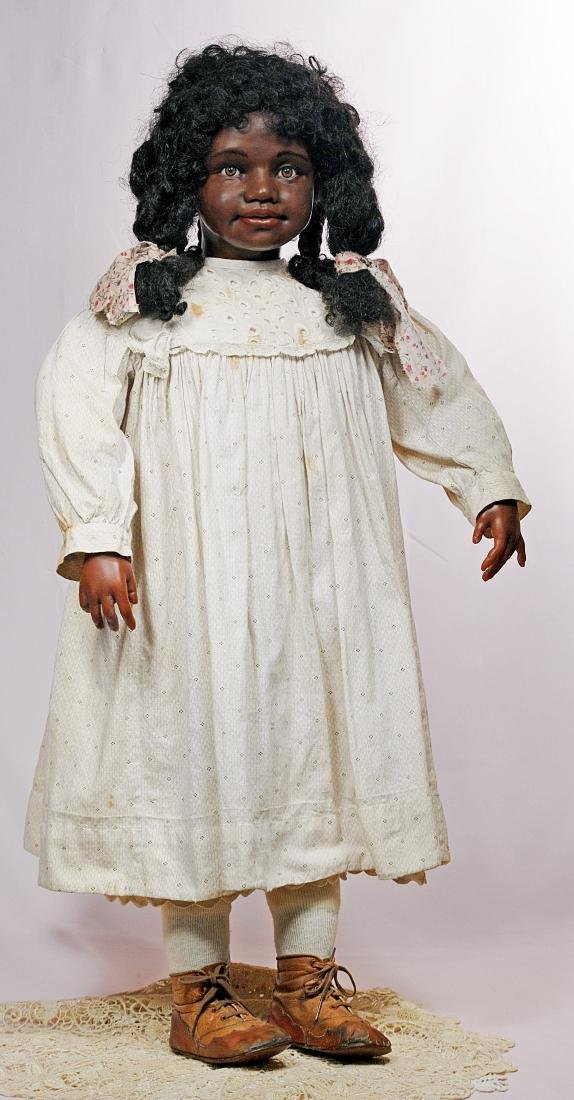 228. ONE-OF-A-KIND BLACK PORTRAIT DOLL BY ARTIST PEGGY - 2
