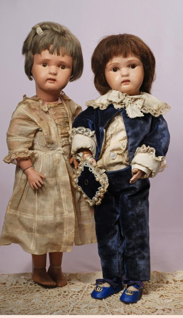236. TWO SCHOENHUT DOLLS, TWO CLOWNS & PIANO. Dolls - 2
