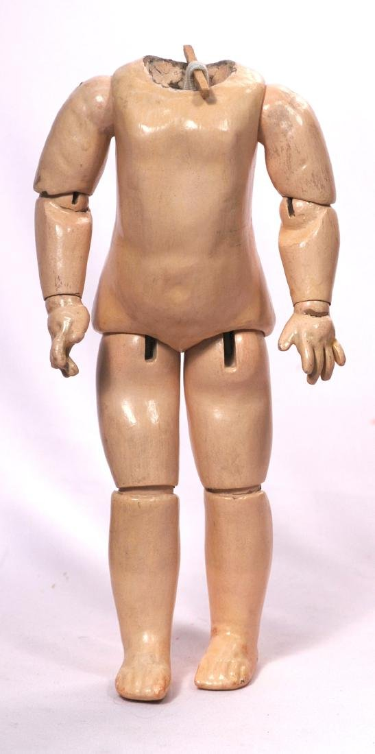 "250. ANTIQUE FRENCH DOLL BODY. 12"". Composition and"