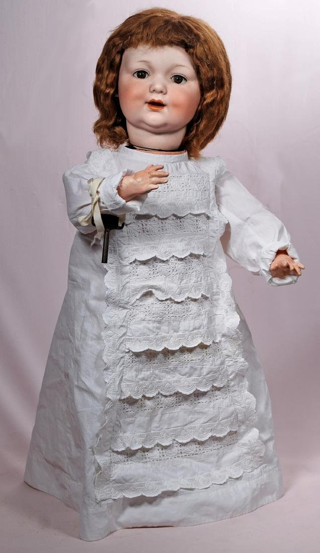 262. RARE GERMAN BISQUE MECHANICAL BABY BY MARSEILLE.