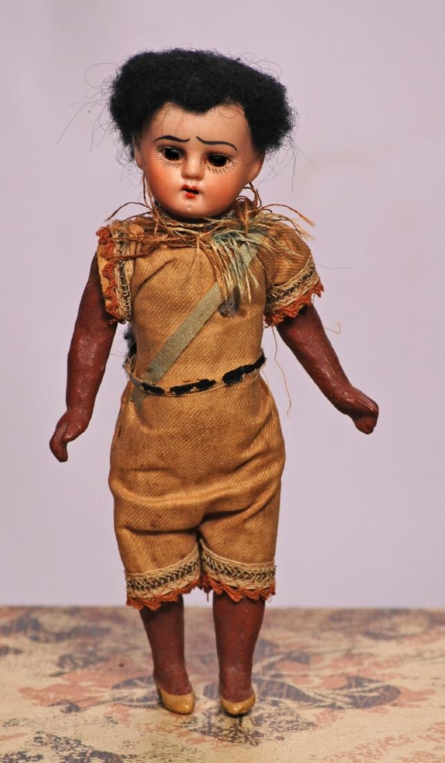 263. TINY GERMAN BISQUE NATIVE AMERICAN DOLL & CHINESE - 2