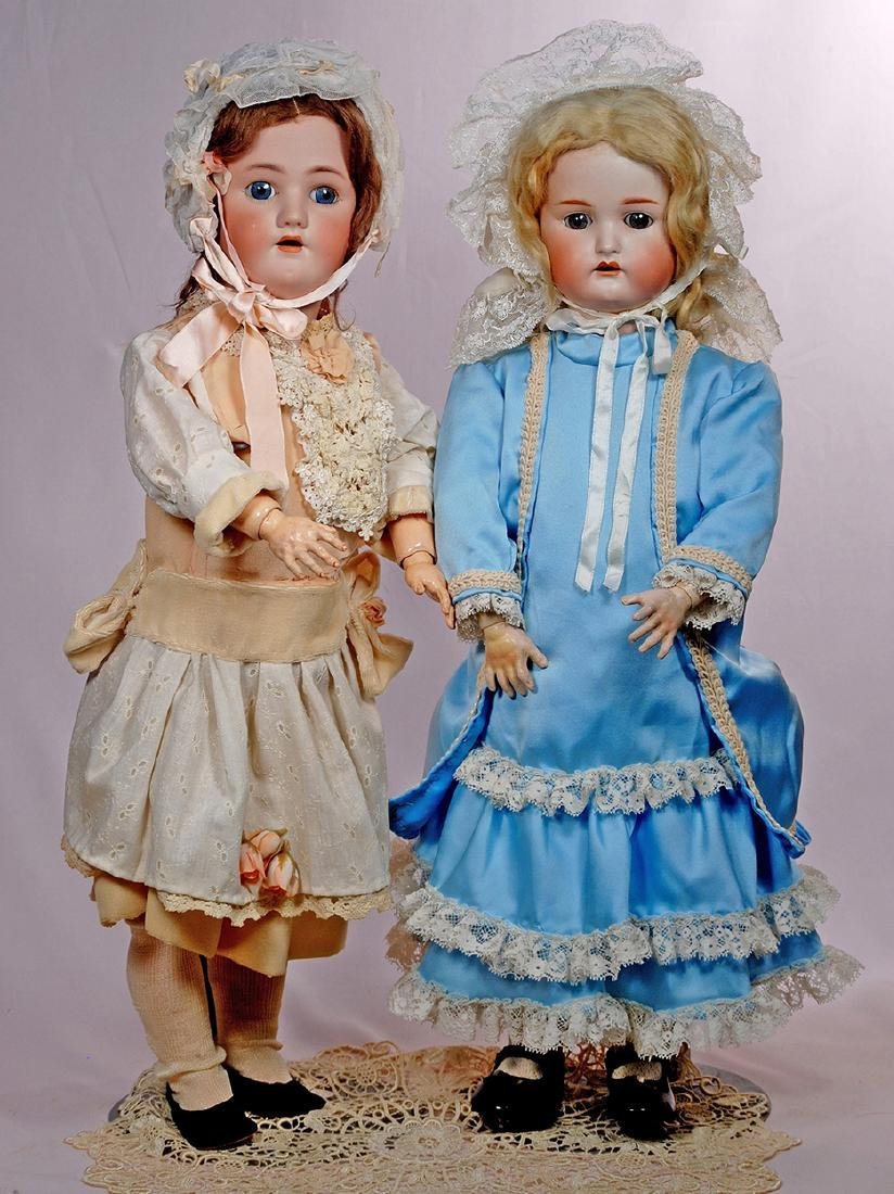 "269. TWO GERMAN BISQUE CHILD DOLLS. (1) 26"" doll marked"