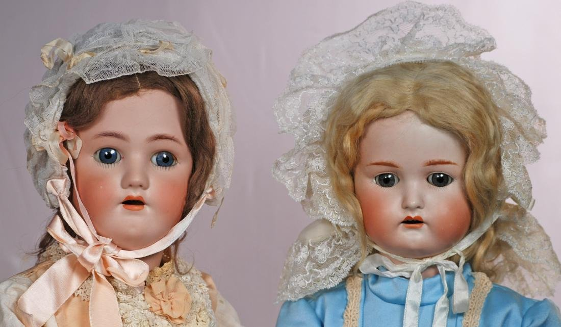 "269. TWO GERMAN BISQUE CHILD DOLLS. (1) 26"" doll marked - 2"