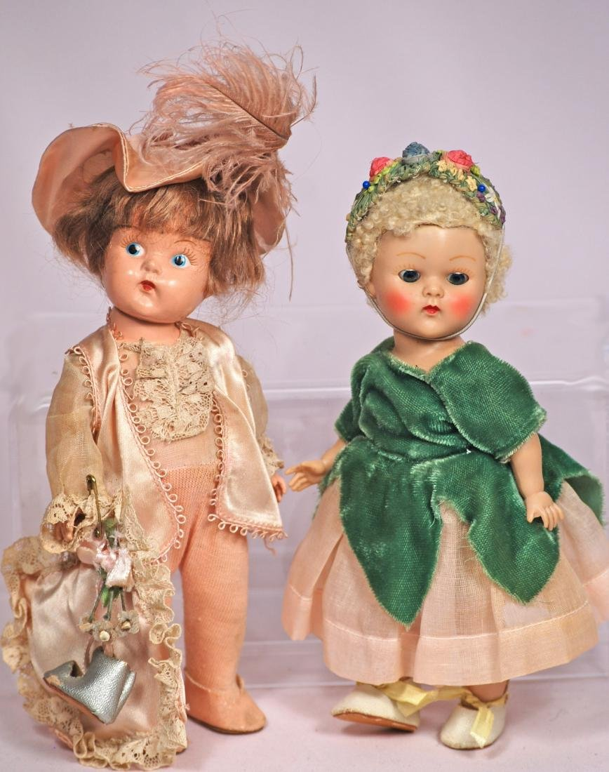 272. TWO VOGUE GINNY HARD PLASTIC DOLLS. (1)