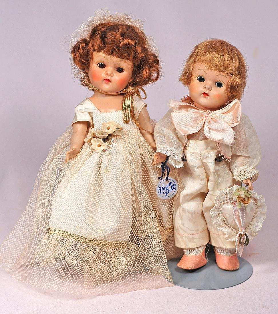 277. VOGUE GINNY BRIDESMAID AND RING BEARER DOLLS. Each