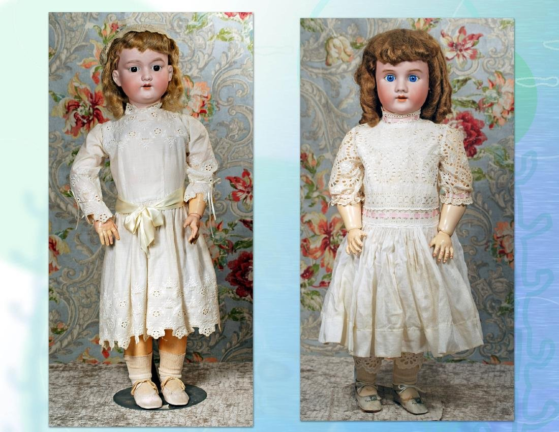 "290. TWO LARGE GERMAN BISQUE DOLLS. (1) 31"" doll marked"