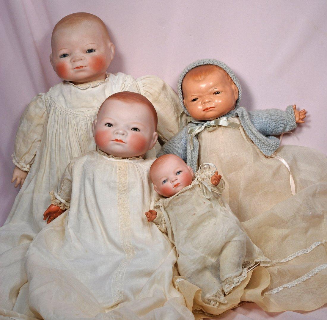 291. FOUR BYE-LO BABIES – THREE GERMAN BISQUE BISQUE