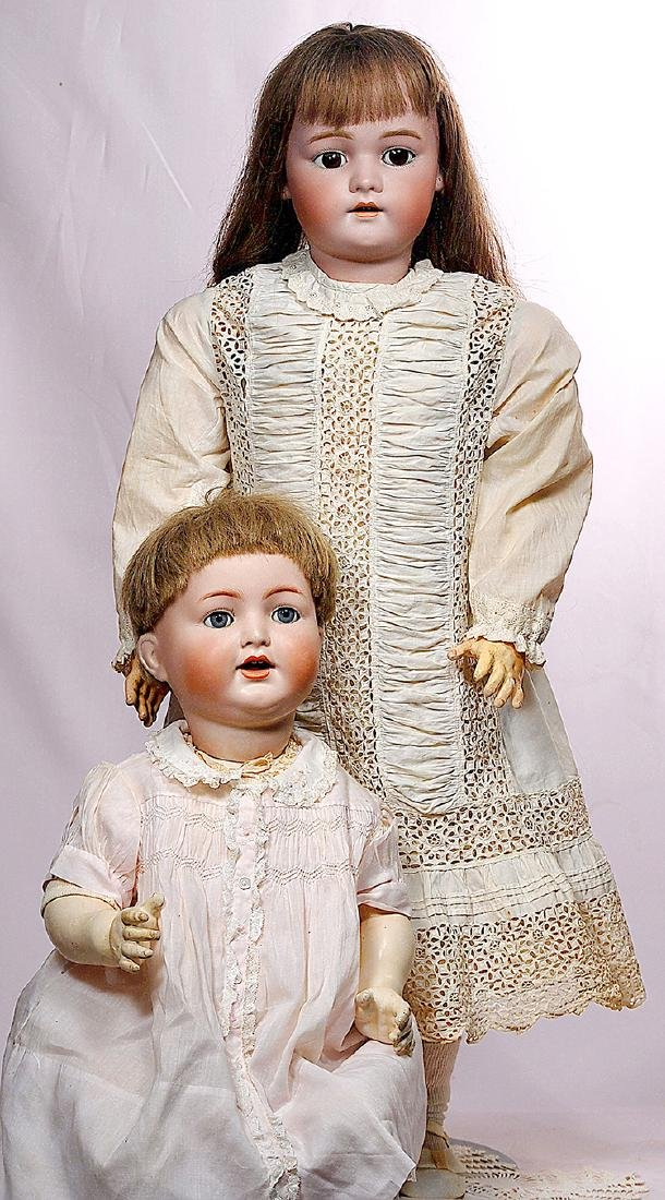 296. TWO GERMAN BISQUE DOLLS. (1) Simon & Halbig