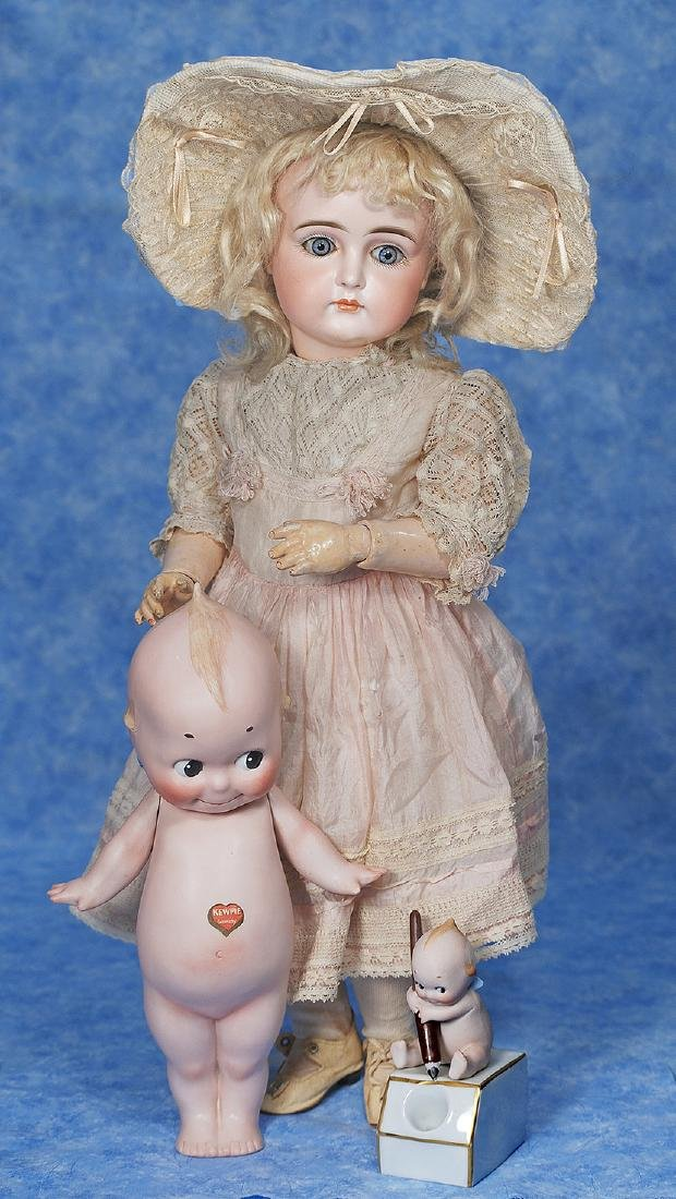 1. VERY BEAUTIFUL CLOSED-MOUTH DOLL BY KESTNER. Marks: