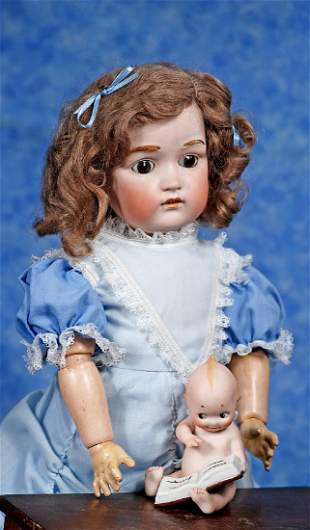 . PRETTY GERMAN BISQUE DOLL, MODEL 215, BY J. D.