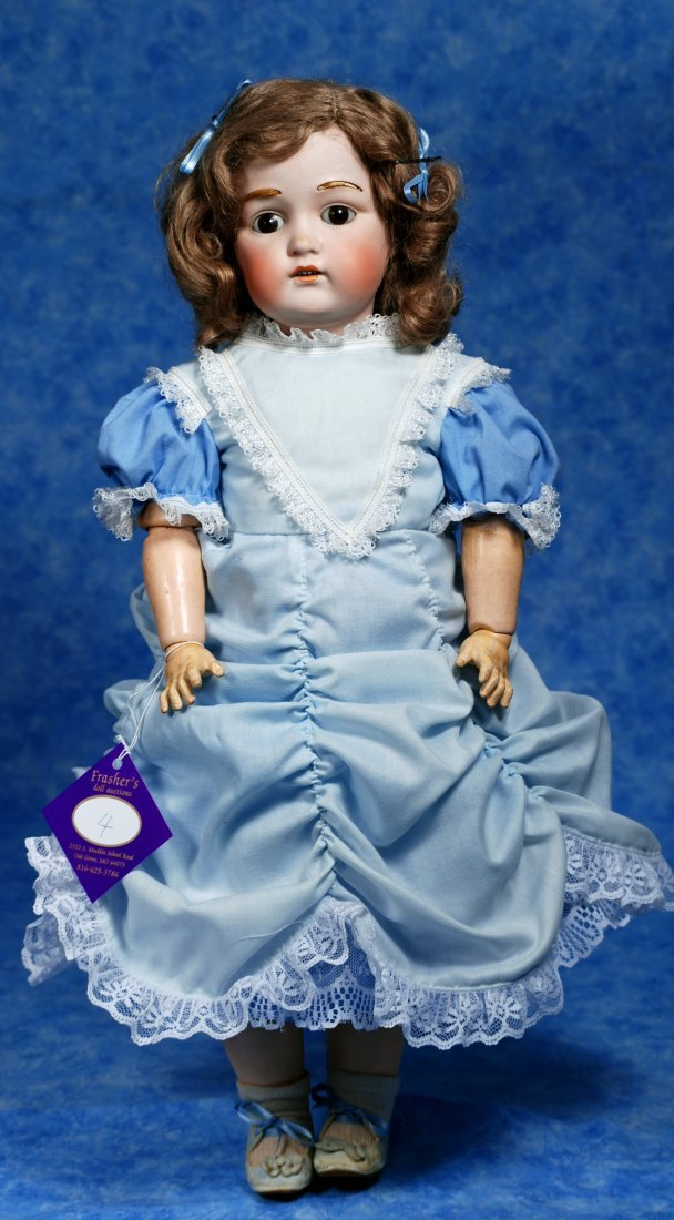 4. PRETTY GERMAN BISQUE DOLL, MODEL 215, BY J. D. - 2