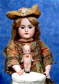 . GERMAN BISQUE KEWPIE DOLL WITH PAINTED SHOES.