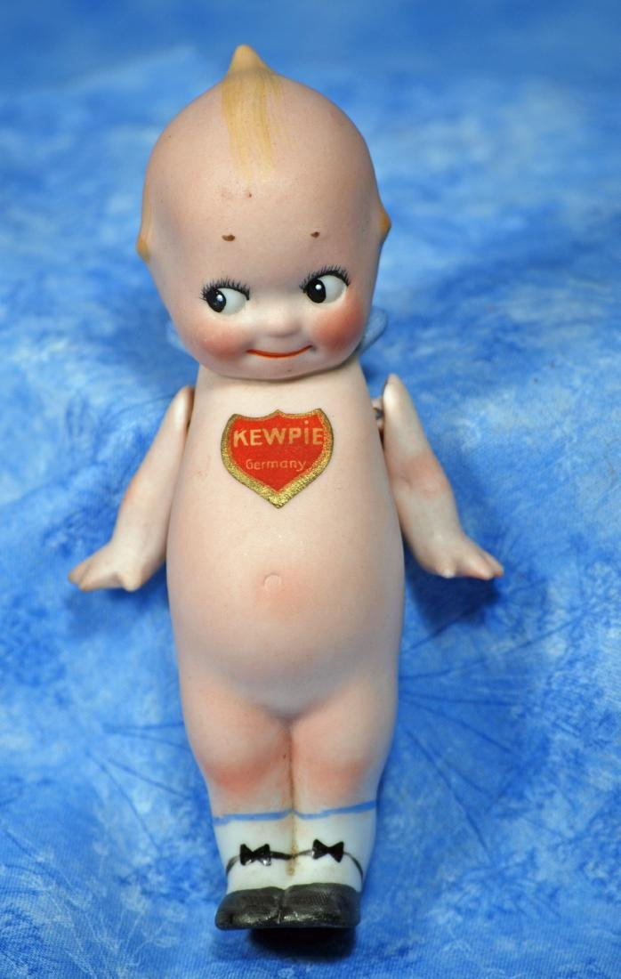 12. GERMAN BISQUE KEWPIE DOLL WITH PAINTED SHOES. - 2