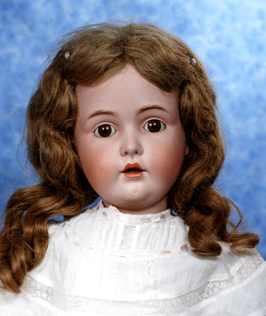 14. GERMAN BISQUE DOLL BY KESTNER. Marks: M made in - 2