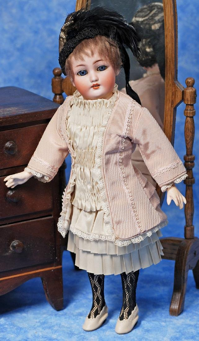15. GERMAN BISQUE DOLL, 1159, WITH FLAPPER BODY BY