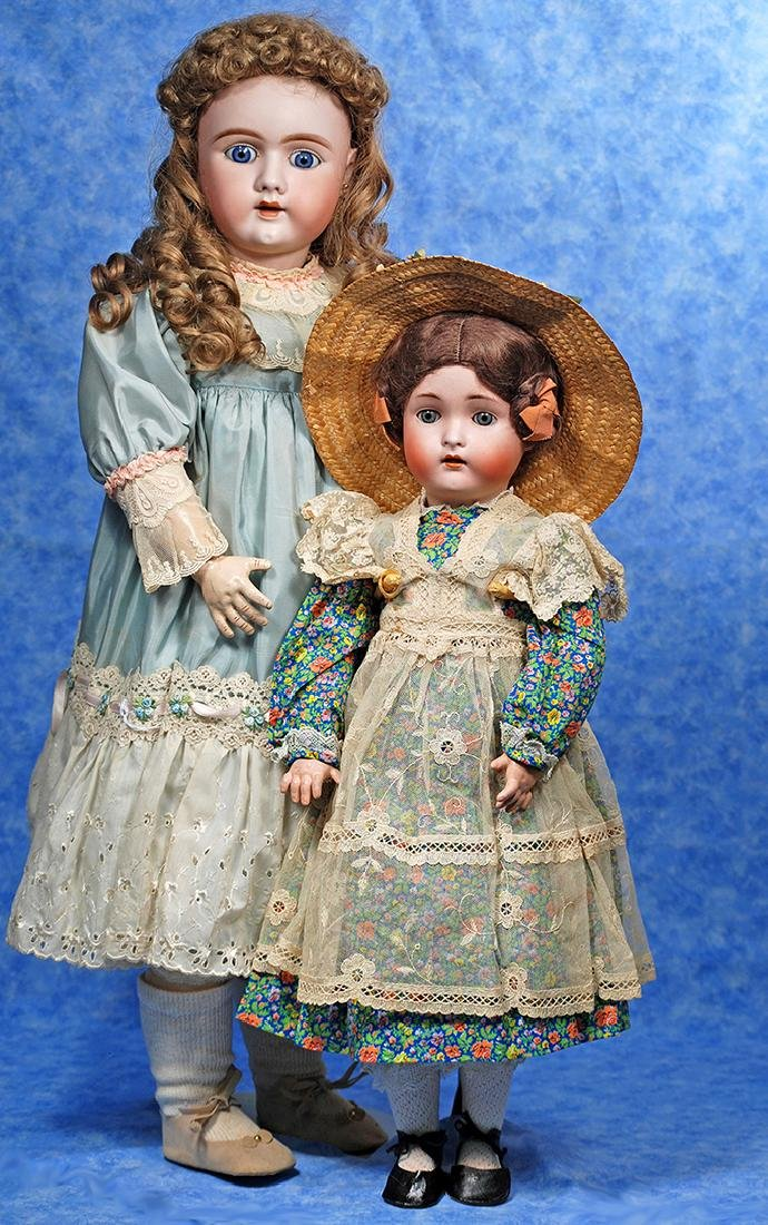 22. LARGE GERMAN BISQUE DOLL BY HAND-WERCK. Marks:
