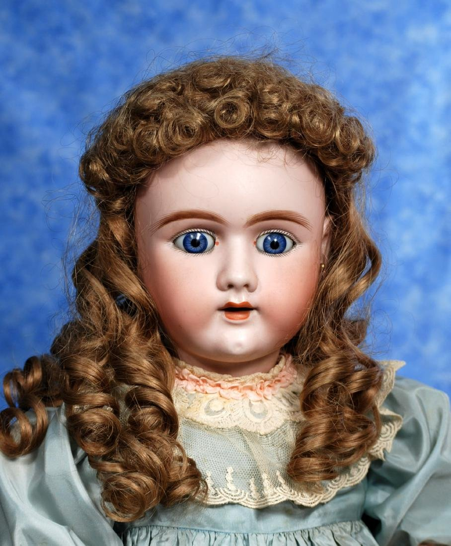 22. LARGE GERMAN BISQUE DOLL BY HAND-WERCK. Marks: - 2