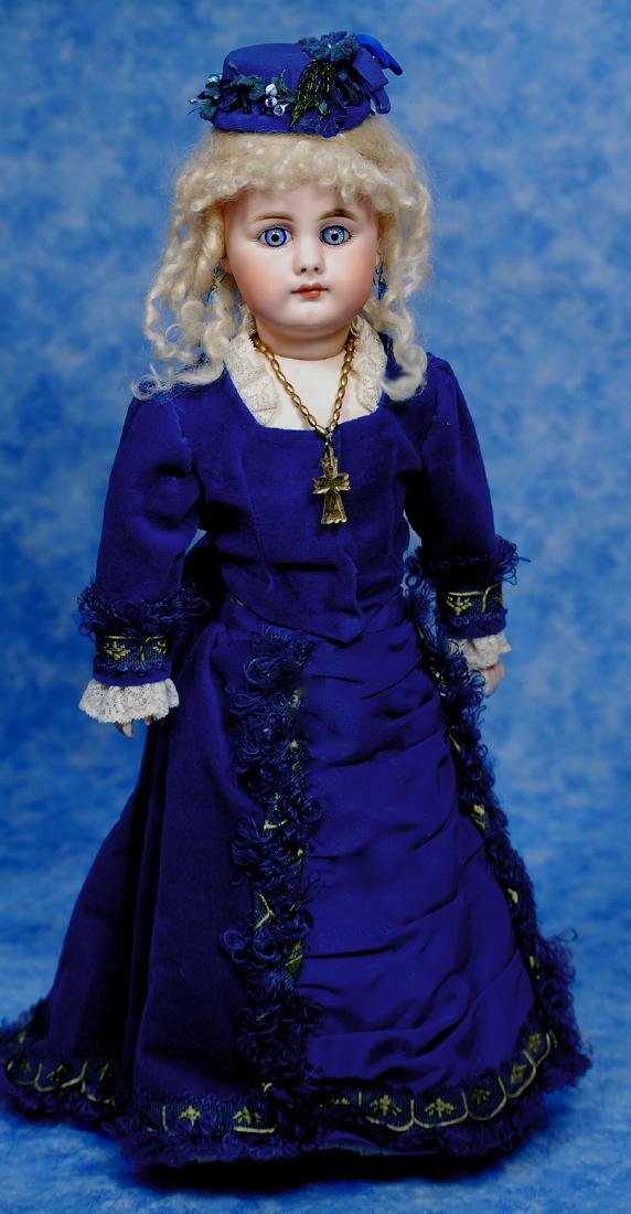 24. GERMAN BISQUE DOLL, 949, BY SIMON & HALBIG. Marks: