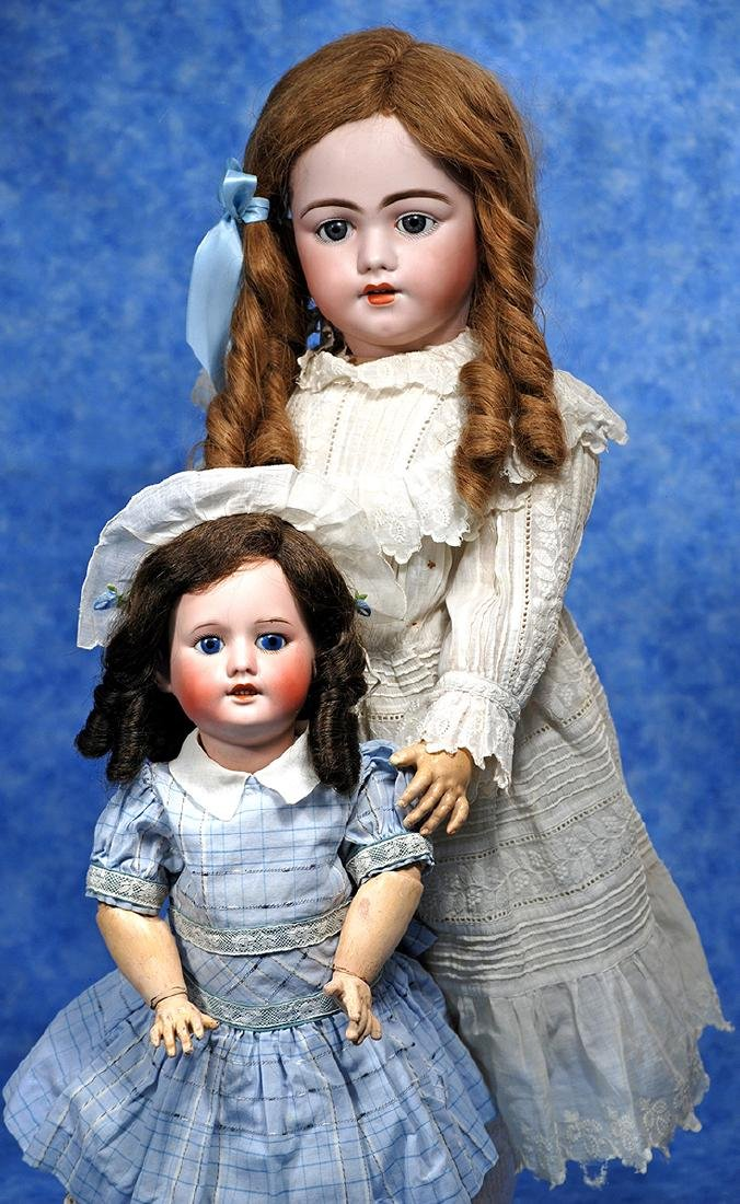 28. SIMON & HALBIG BISQUE DOLL, MODEL 1009. Marks: S 13