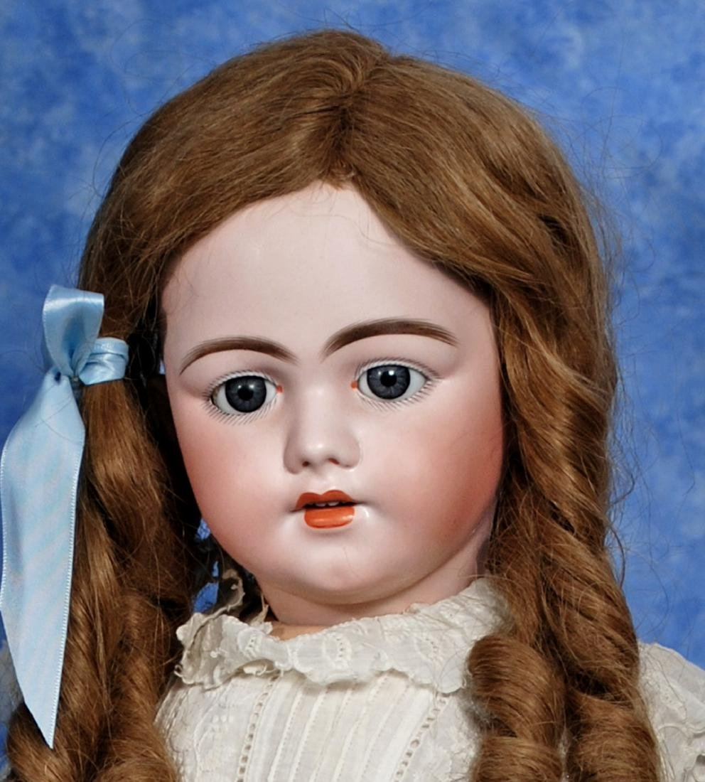 28. SIMON & HALBIG BISQUE DOLL, MODEL 1009. Marks: S 13 - 2