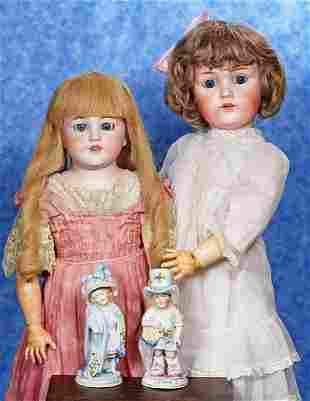 35 GERMAN BISQUE 8220MAMA AND PAPA8221 FIGURINES