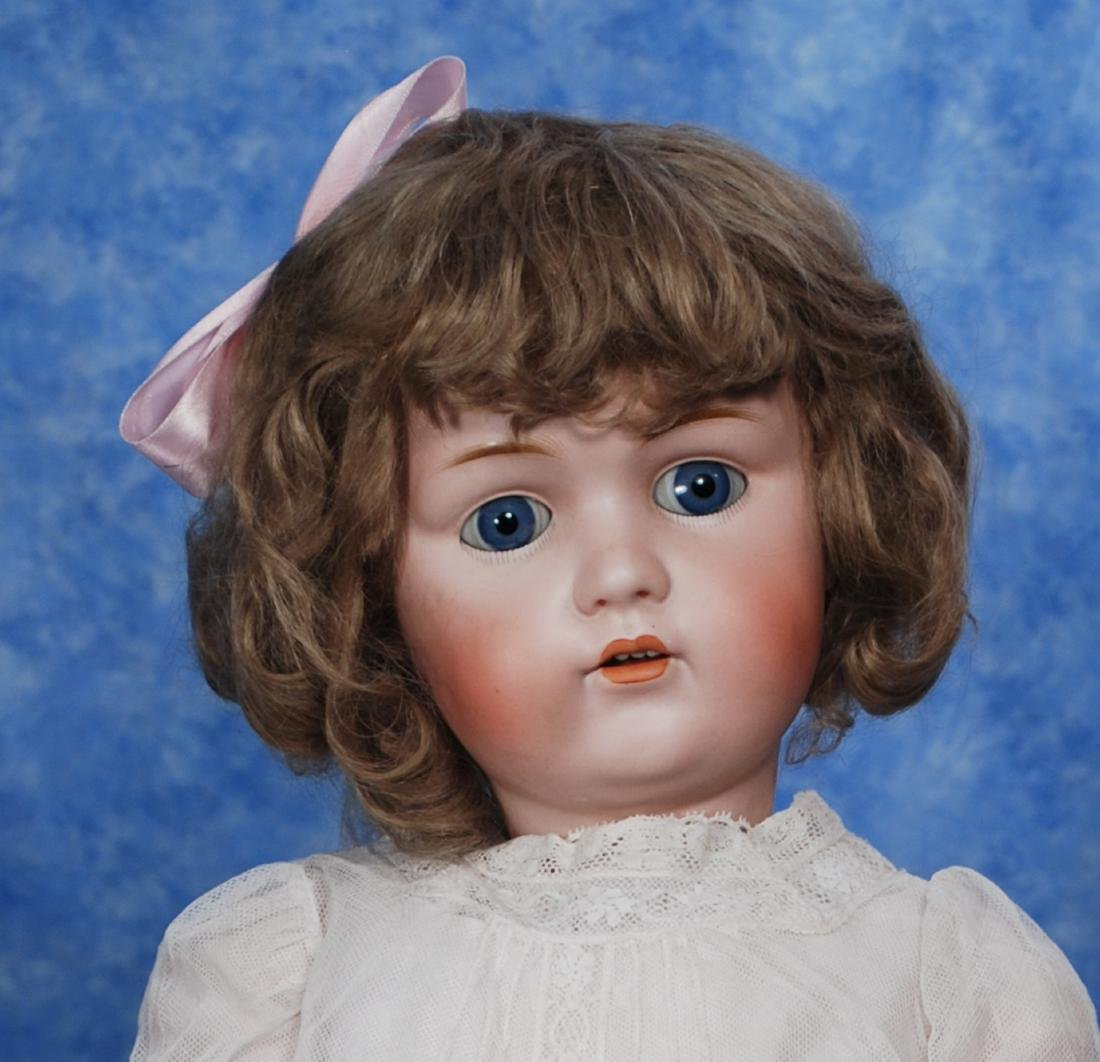 36. GERMAN BISQUE DOLL BY KESTNER. Marks: L. made in - 2