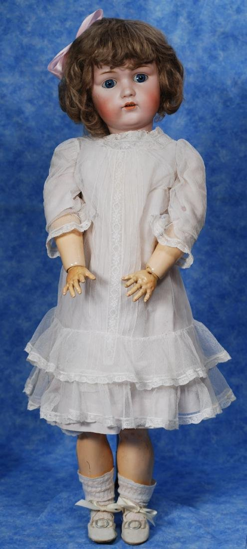 36. GERMAN BISQUE DOLL BY KESTNER. Marks: L. made in - 3