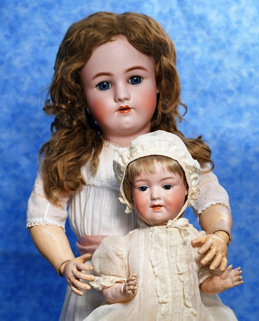 41. PRETTY GERMAN BISQUE DOLL BY HANDWERCK. Marks: